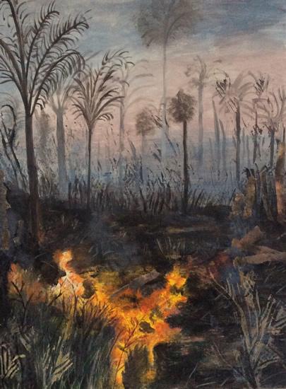 Art Gallery - Burning the Forest - Hampton London Artist Jennifer Brown