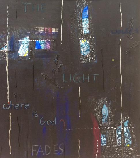 Art Gallery - Light Fades - Hampton London Artist Jennifer Brown - Painting and Collage