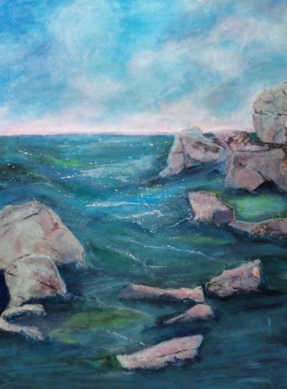 Art Gallery - Mighty Rocks - Hampton London Artist Jennifer Brown