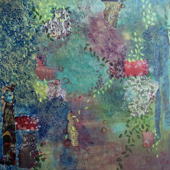 Art Gallery - Pretty Little Things Painting and Collage - Hampton London Artist Jennifer Brown