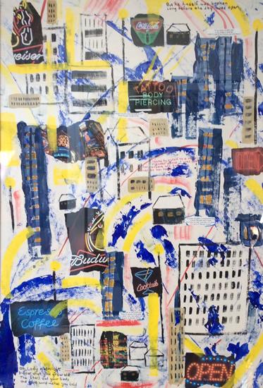 Back on Boogie Street - Painting - Hampton London Artist Jennifer Brown