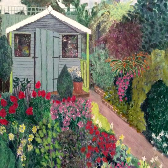 Garden Painting - Art by Jennifer Brown - Surrey Artist