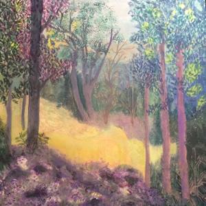 Walk In The Woods Painting – Hampton London Artist Jennifer Brown