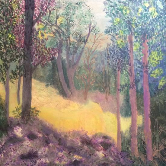 Walk In The Woods Painting - Hampton London Artist Jennifer Brown