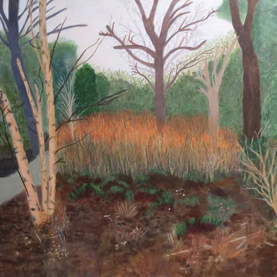 Woodland Garden March - Art Gallery - Hampton Artist Jennifer Brown
