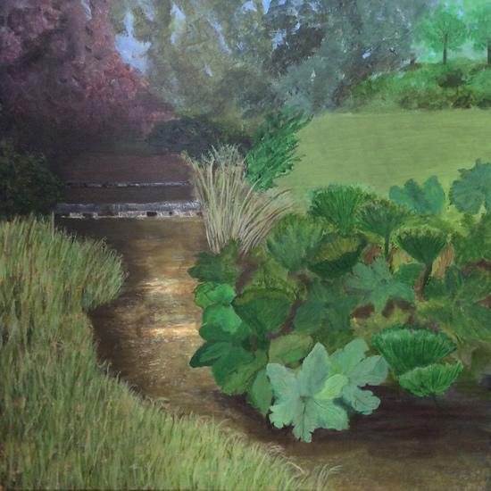 Woodland Garden Summer- Art Gallery - Hampton London Artist Jennifer Brown